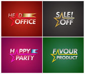 Banner set with star line. — Stock Vector