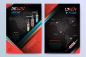 Designe template for leaflet, brochure, cover, magazine. — Stock Vector