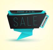 Banner-Verkauf für promotion — Stockvektor