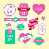 Love and wedding element — ストックベクタ
