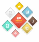 Modern round rectangle soft color Design template. — Stock Vector