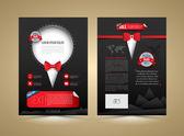 Vector brochure template design tuxedo style. — Stock Vector