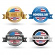 Memorial day badges set. — Stock Vector #73255861