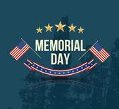 Happy Memorial Day with texture — Stock Vector