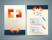 Brochure or flyer design medical style. — Stock Vector