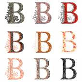 Various combination fishnet letter B. — Wektor stockowy