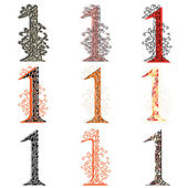 Various combination numeric figures 1. — Stock Vector