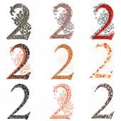 Various combination numeric figures 2. — Stock Vector