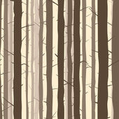 Seamless background with many tree trunks. — Stock Vector