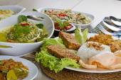 Indonesian lunch — Stock Photo