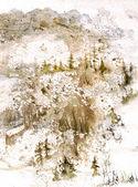 Kar panorama — Stok fotoğraf