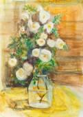 Bouquet of wild roses  — Stock Photo