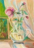 Rose in vase — Stock Photo