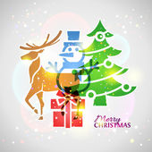 Collage of christmas symbols with blending effect — Stock Vector