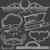 Retro Frames in Chalk-draft — Vector de stock