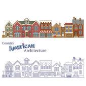 Suburban American Architecture — Stock Vector
