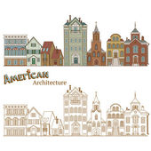 Typical American Architecture — Vector de stock