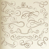 Vintage Dividers and Vignettes — Stock Vector
