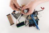 Set of electronic details — Stock Photo