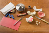 Place of work of the dental technician — Stock Photo