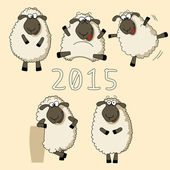 New Year card with sheep — Stock Vector