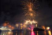 Fireworks in Brisbane - 2014 — Stock Photo