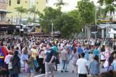 Brisbane, Queensland, Australia - October 5th 2014: Annual brain foundation zombie walk October 5th, 2014 in West end, Brisbane, Australia. — Stock Photo