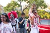 Brisbane, queensland, Australië - 5 oktober 2014: jaarlijkse hersenen Stichting zombie wandeling 5 oktober 2014 in het west end, brisbane, Australië. — Stockfoto