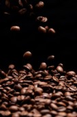 High contrast coffee beans. — Stock Photo