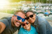 Selfie family — Stock Photo