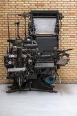 Linotype machine — Stock Photo