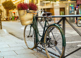 Bicycle at sunset — Stock Photo