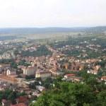 Panorama of the Romanian city bird's-eye view. — Stock Photo #54136189
