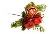 Dekorationen für weihnachten und neujahr. isoliert — Stockfoto
