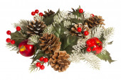 Decorations for Christmas and New Year holidays. Isolated. — Stock Photo