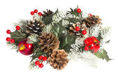 Decorations for Christmas and New Year. Isolated. — Stock Photo