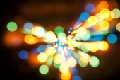 Abstract Glow Soft bokeh Hearts for Valentines Day Background Design — Foto Stock