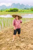 Portrait of a woman farmer — Stock Photo