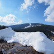 Snowpark in the middle of a snowy mountain ready for skiers and snowboarders. — Stock Photo #52889427