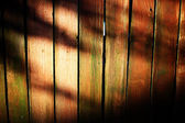 Blue wooden fence — Stock Photo