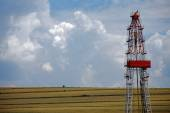 Shale gas drilling rig — Stock Photo