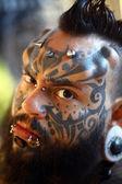 Tattoo portrait — Stock Photo