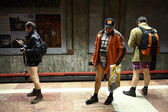 No Pants Subway Ride in Bucharest, Romania — Stock Photo