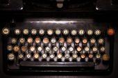 Vintage typewriter keyboard — Stock Photo