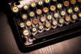 Sztuka pisania klawiatura — Zdjęcie stockowe