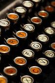 Teclado de máquina de escrever vintage — Fotografia Stock