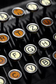 Vintage typewriter keyboard — Stockfoto