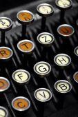 Teclado de máquina de escribir Vintage — Foto de Stock