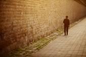 Eenzame man — Stockfoto