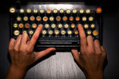 Vintage typewriter keyboard — Stock Photo